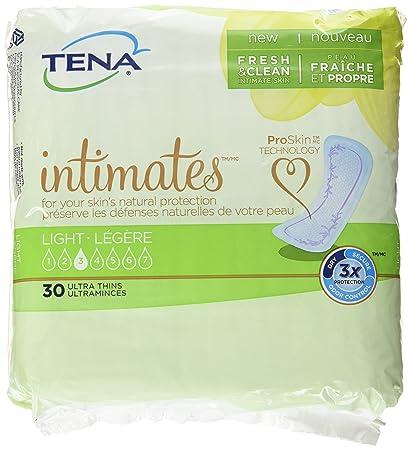 Amazon.com: TENA Intimates Light Ultra Thin Pads Regular, Pack/30: Beauty