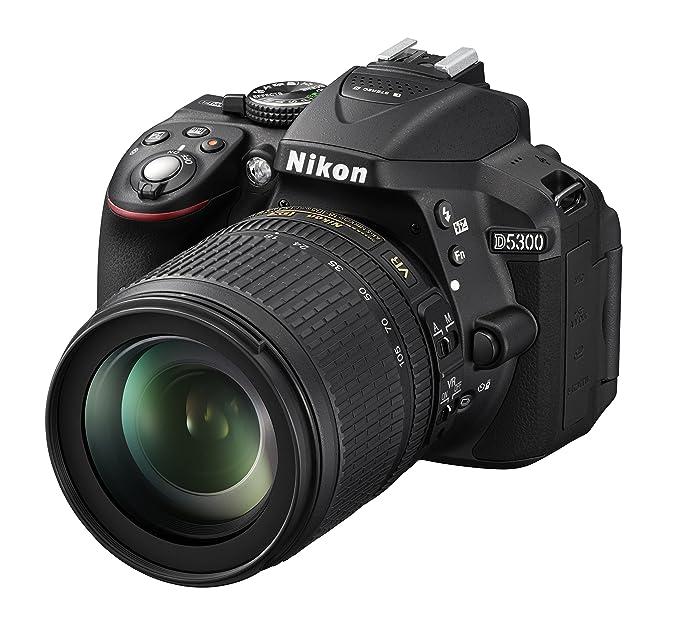 Nikon D5300 + Nikkor 18-105 VR + SD 8GB Lexar Premium 200x SLR-Kamera-Set 24,2 MP CMOS 6000 x 4000 Pixel Schwarz - Digitalkam