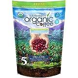 5LB Subtle Earth Organic Decaf - Swiss Water Process Decaf -Medium Dark Roast - Whole Bean Coffee - Low Acidity - Organic Cer