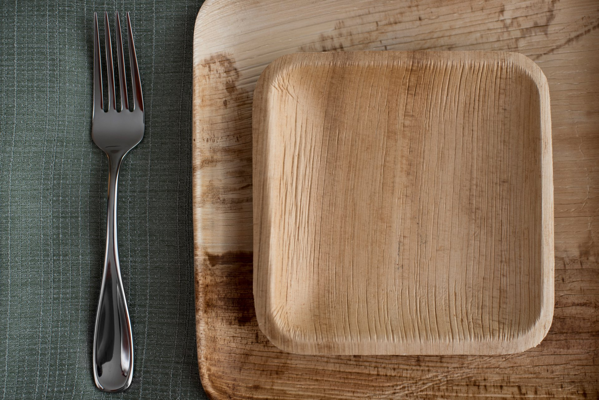 """9"""" Square Palm Leaf Plates - Pack of 25 - Disposable, Compostable, Natural, Tree Free, Sustainable, Eco-Friendly - Fancy Rustic Party Dinnerware and Utensils Like Wood, Bamboo by Clean Earth Goods (Image #6)"""