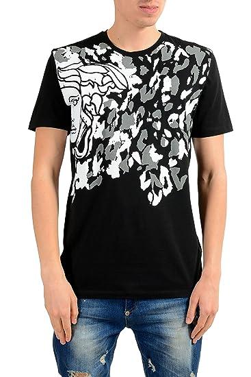 5c435560259b Amazon.com  Versace Collection Men s Black Graphic Print T-Shirt US ...