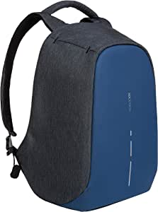 XD-Design Bobby Compact Anti-theft Backpack with Integrated USB Charging Port (Diver Blue)