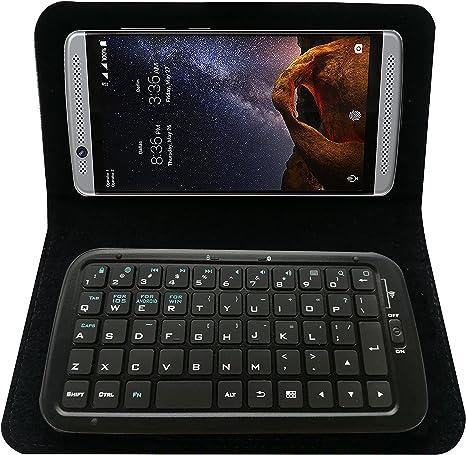 Mini teclado caso con ranuras para tarjetas y soporte para ZTE ...