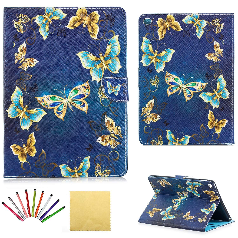豪華 Uliking スタンド iPad Air 2ケース Air スリム スマート フォリオ スタンド 2用 PUレザー 耐衝撃 TPU ウォレット カードポケット付き 鉛筆ホルダー [スタイラスペン ] 自動ウェイク/スリープ磁気カバー Apple iPad Air 2用 ブルー 01# Gold Bling Butterfly B07KWMNKY3, ヨコスカシ:cbf7086b --- a0267596.xsph.ru