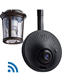 Toucan Outdoor Wireless Wifi Security Camera, Motion Alert, Waterproof, Powered by Light Fixture / USB Charger Outlet...