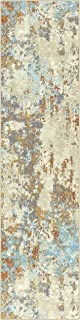 product image for Maples Rugs Southwestern Stone Distressed Abstract Non Slip Runner Rug For Hallway Entry Way Floor Carpet [Made in USA], 2'6 x 10, Multi