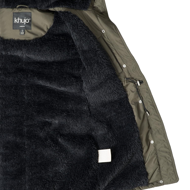 Khujo - Abrigo - para Mujer Grün (mit Teddyfutter) XL: Amazon.es: Ropa y accesorios