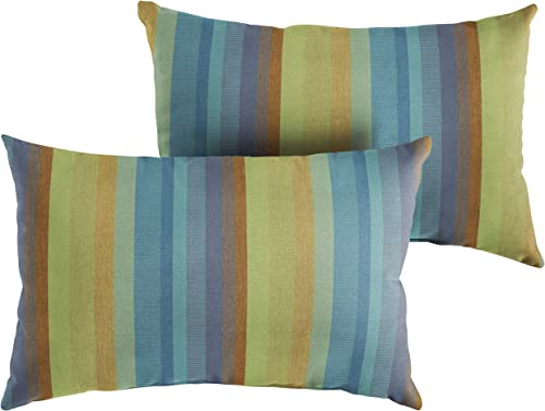 Mozaic Company AMZ234611SP Sunbrella Astoria Lagoon Outdoor Pillow Set