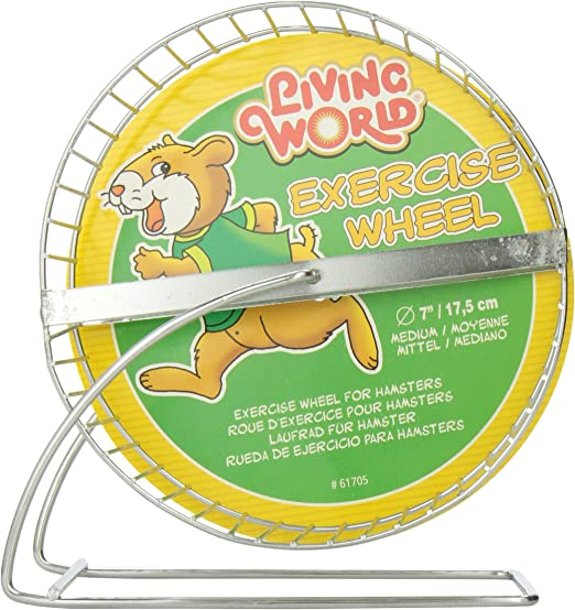 Amazon Com Living World Chrome Plated Hamster Wheel 7 Inch Pet Habitat Decor Pet Supplies