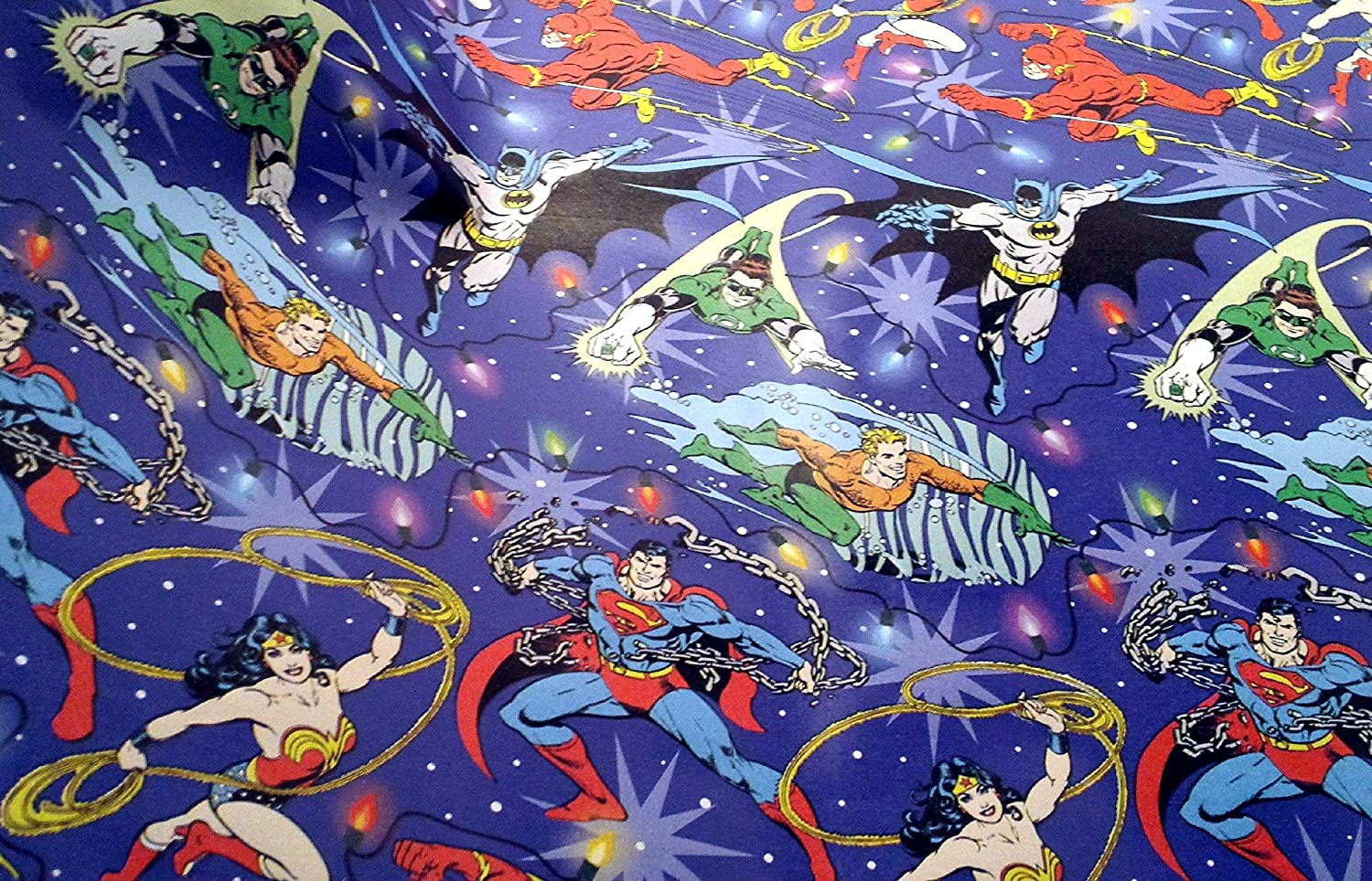 Amazon.com: DC Comics Justice League Christmas Gift Wrapping Paper ...