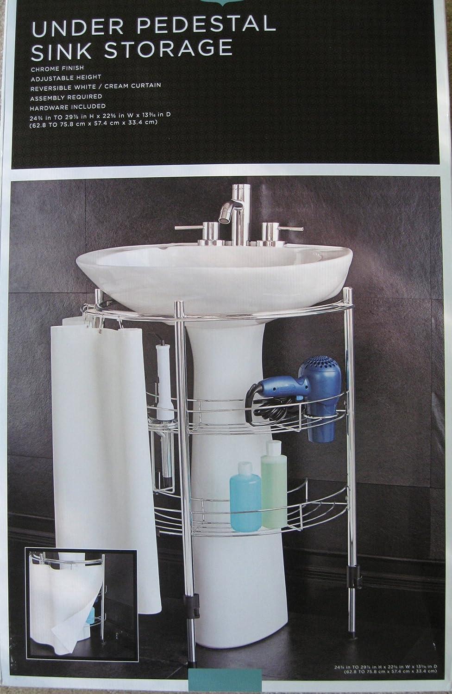 Amazon Com Under Pedestal Sink Storage Home Kitchen