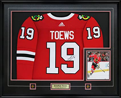 c38c20818 Image Unavailable. Image not available for. Color: Frameworth Jonathan Toews  Signed Jersey Framed Pro Adidas Blackhawks ...