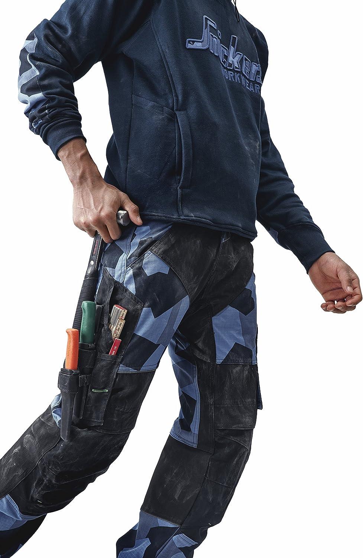 Snickers 69038604044 FlexiWork Pantalon de travail Taille 44 Camouflage Bleu Marine//Noir