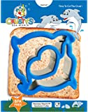 Crusty's Dolphin Sandwich Cutter Stainless Steel Crust & Cookie Cutter - Fun Bites for Kids & Toddlers - Extra Deep & Dishwasher Safe - BPA Free Bento Box Accessory [Dolphin Blue]