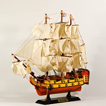 EliteTreasures Wooden Model Ship Victory 16quot Collectible Figurine