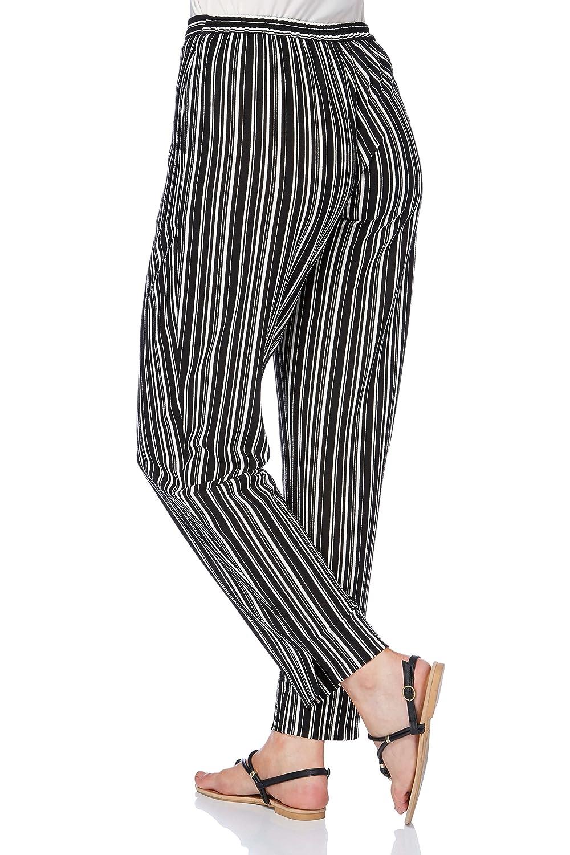 Roman Originals Women's Monochrome Stripe Hareem Trousers: Amazon.co.uk:  Clothing