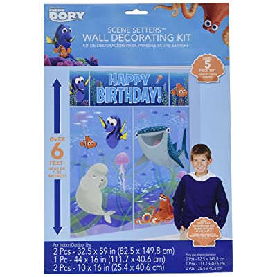 Finding Dory Scene Setter Wall Decorating Kit 5 Piece: Toys & Games