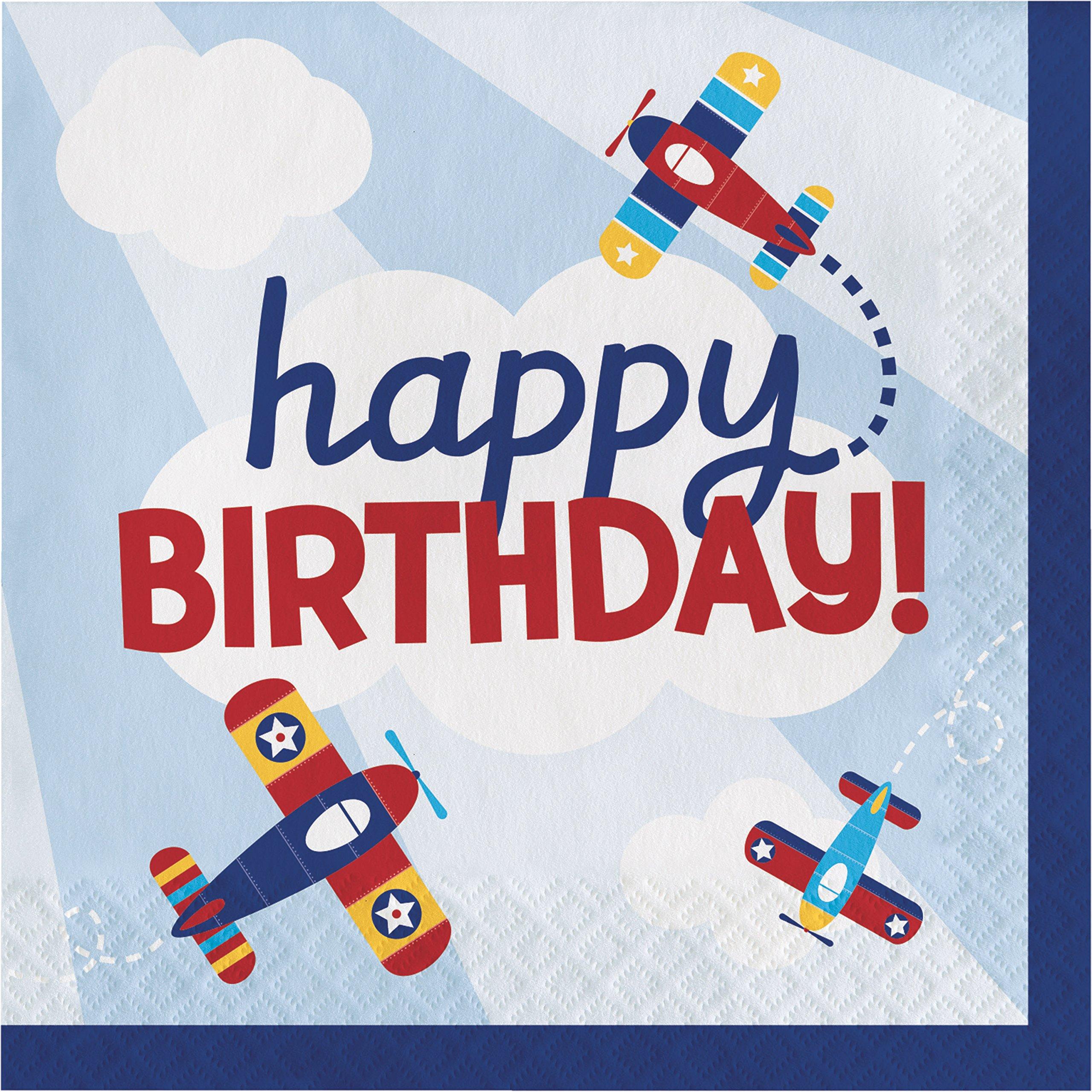 Toy Airplane Birthday Napkins, 48 ct