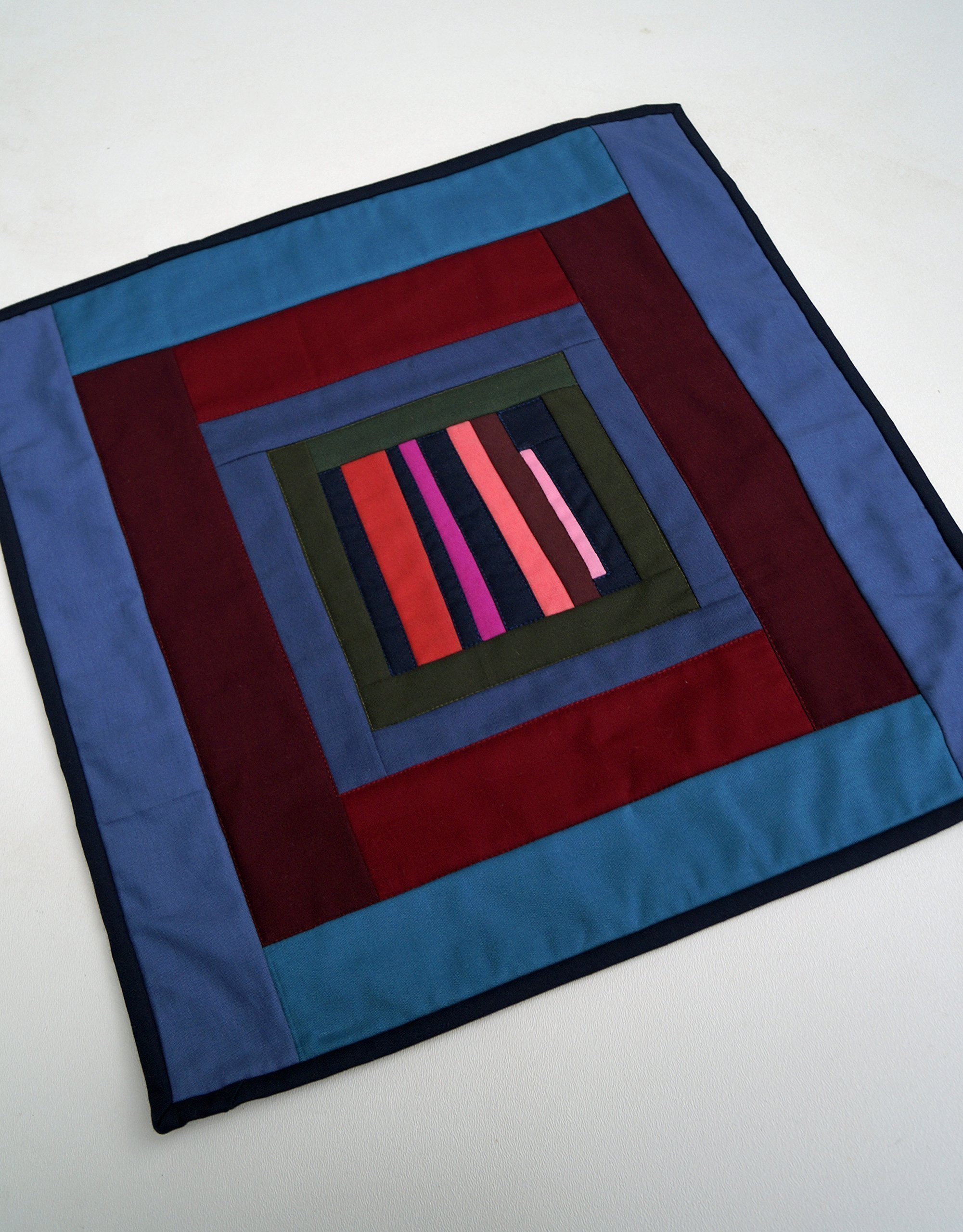 Abstract Colorful Quilted Wall Hanging or Table Topper