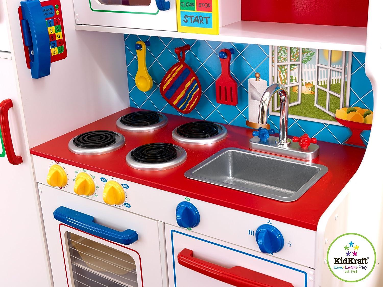 amazon com kidkraft deluxe let u0027s cook kitchen toys u0026 games