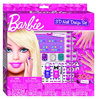 Fashion Angels Barbie 3d Nail Art Design Kit Amazon Toys Games