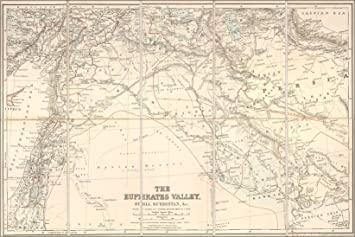 Amazon.com : 42x63 Poster; Map Of Euphrates River Valley Israel Iraq ...