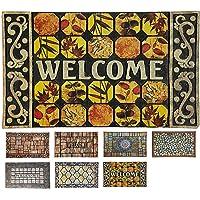 LucaHome - Felpudo Entrada casa de Goma-Flocada Texas 45x75 cm Forma Base Antideslizante, Felpudo Premium, fácil…