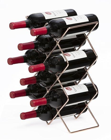 Amazon Com Mango Steam 10 Bottle Wine Rack Silver Home Kitchen