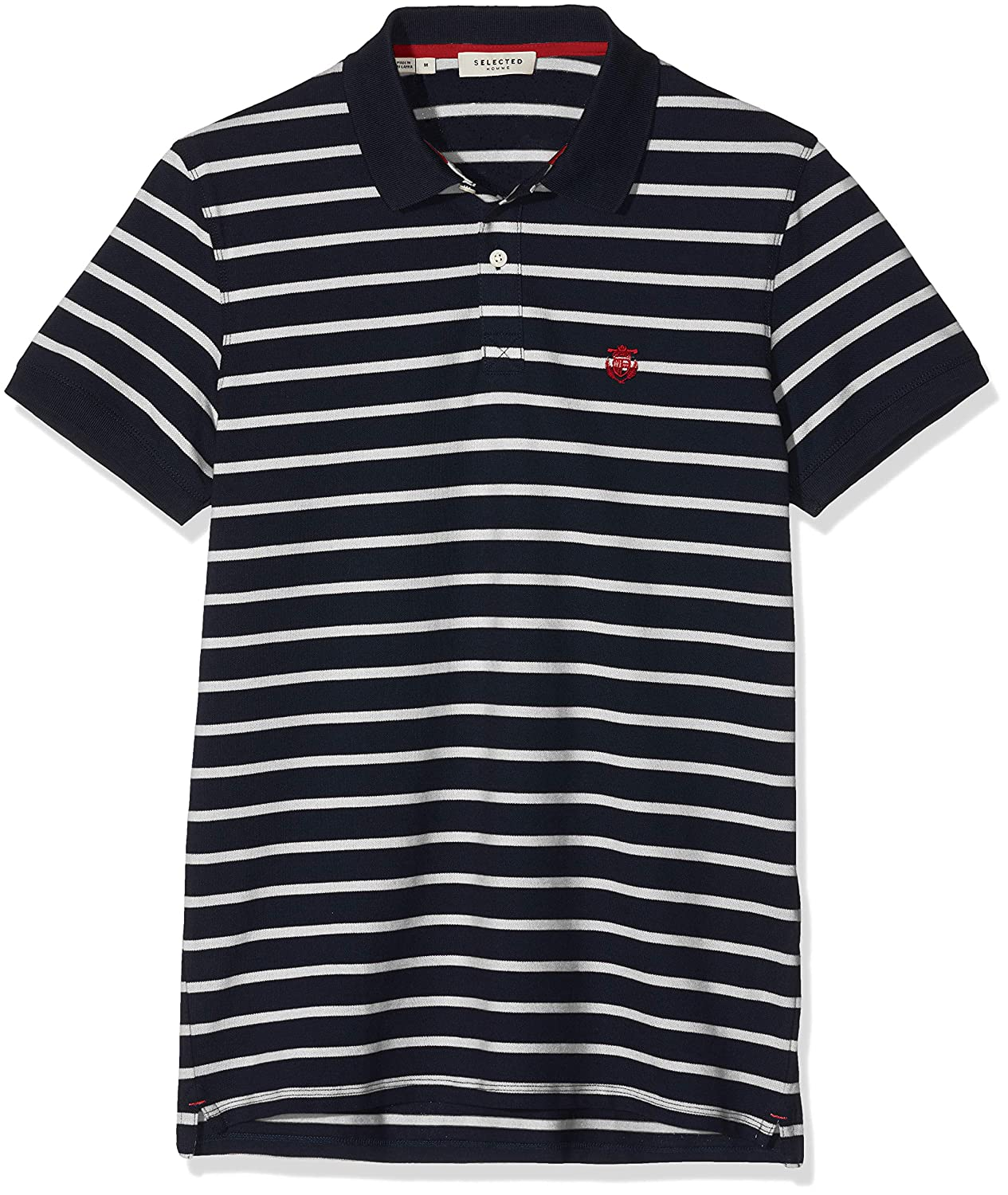 SELECTED HOMME Slharo Stripe SS Embroidery Polo W Camiseta para ...