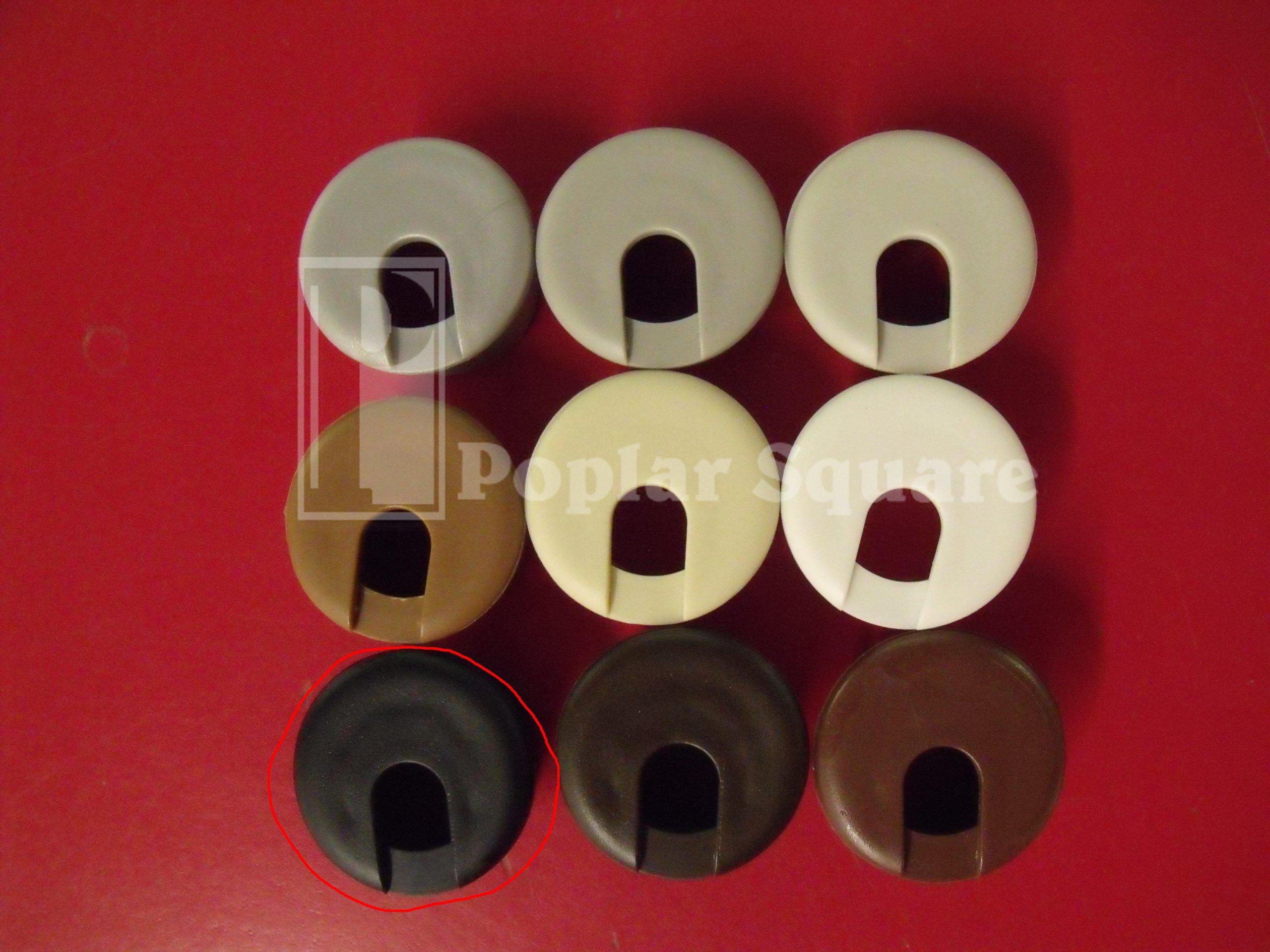 Cord Grommet Black 1'' 25/box #1041BK by Bainbridge (Image #5)