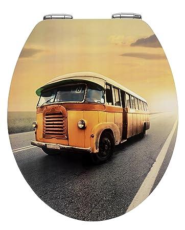 wenko 21596100 wc sitz vintage bus metal plate oberflche absenkautomatik metall