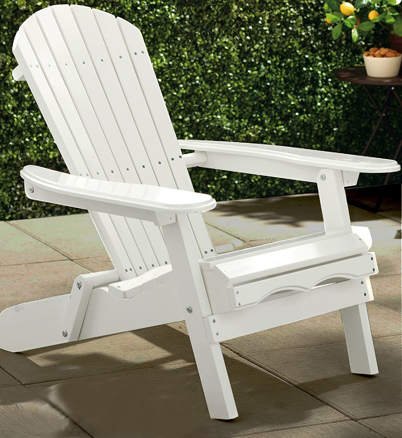 Amazon Merry Garden White Paint Simple Adirondack Chair
