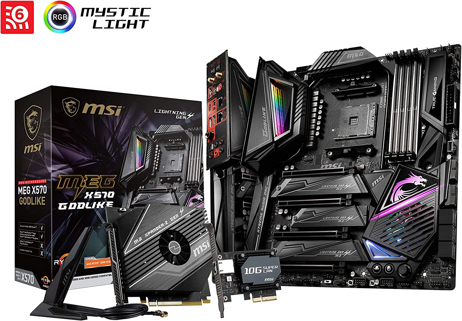 MSI Godlike AM4 AMD X570 ATX DDR4-SDRAM Motherboard