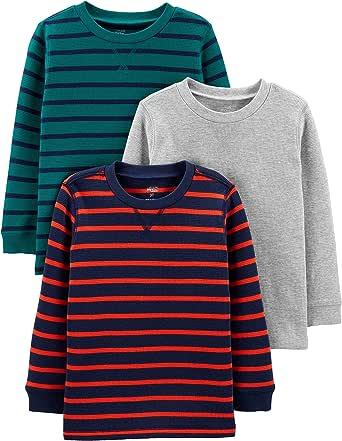 Simple Joys by Carter's 3-Pack Thermal Long Sleeve Shirts Bebé-Niños