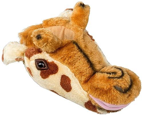 Pantuflas para mujer en 3D diseño de animal, color marrón, talla 40/41 EU