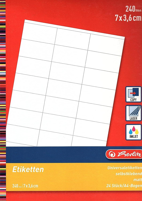 3 Bogen a 3 St/ück selbstklebend Herlitz Buchetiketten 830307