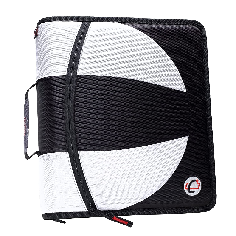 Case-It 4 cm Ring Binder – Color color Blanco (2 unidades), color Color negro 487849