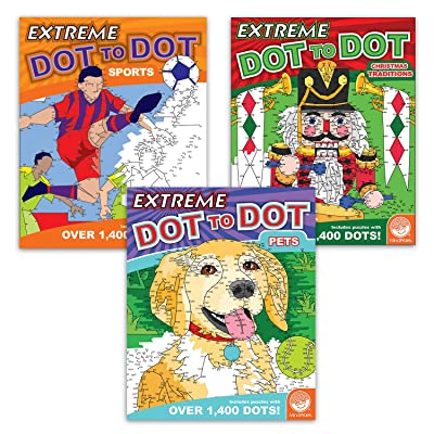 MindWare Extreme Dot to Dot Coloring Set of 3: Sports and Holiday Favorites: Toys & Games [5Bkhe1000553]