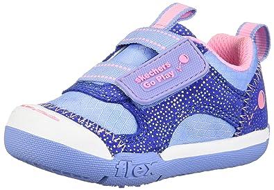 a6fead7bdd29b Skechers Flex Play-82160N Girls' Infant-Toddler Sneaker 4 M US Toddler Blue