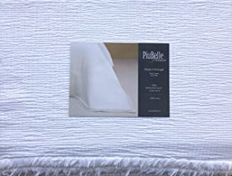 Piu Belle Portugal Bedding Luxurious King Size Bed Tom Textured Matelasse Quilt Coverlet Solid White with