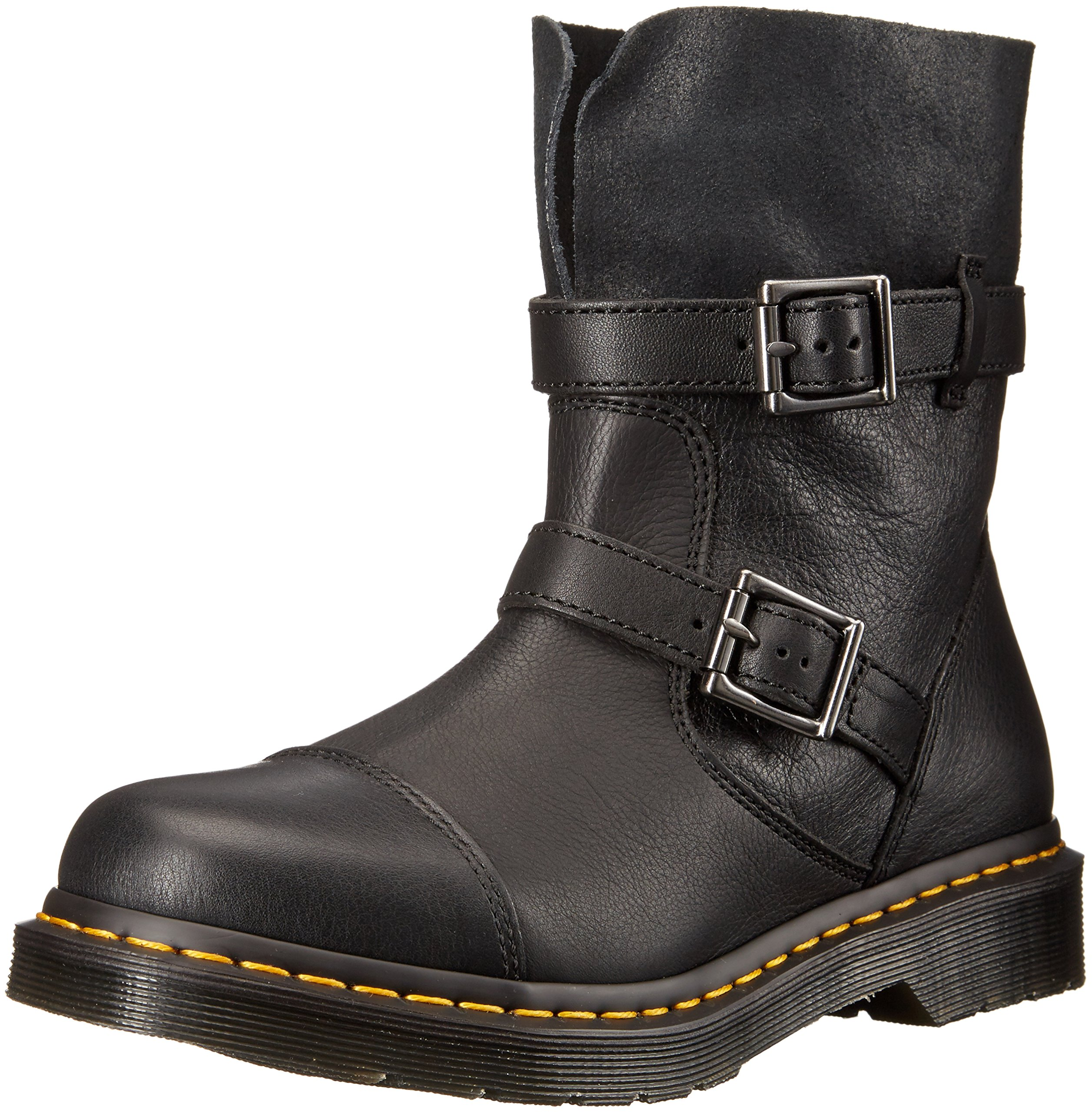 Dr. Martens Women's Kristy in Black Virginia Leather Boot, Black Virginia Leather, 4 Medium UK (6 US)