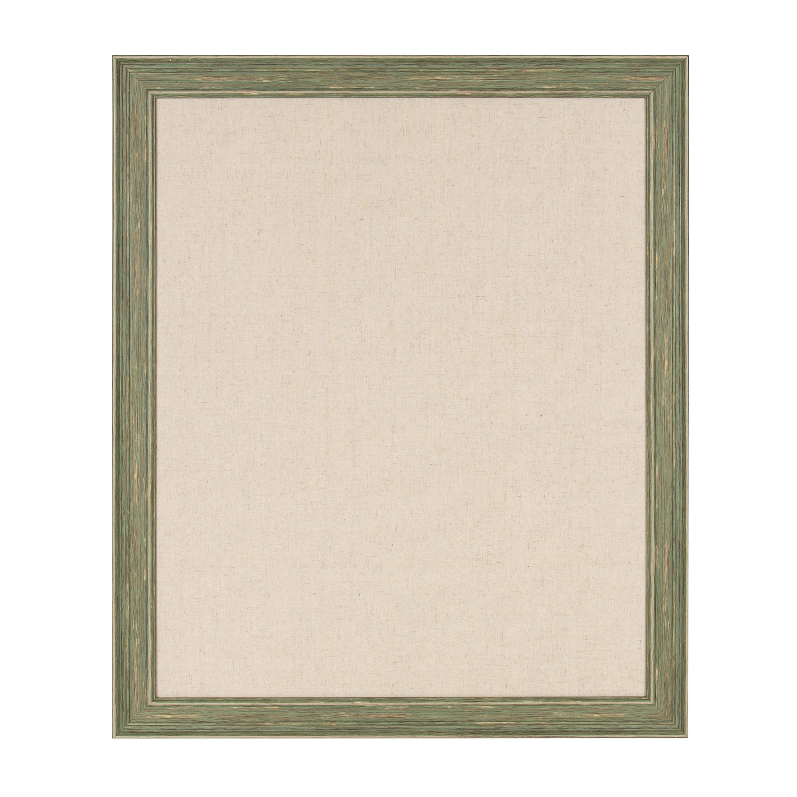 DesignOvation - Harvest Framed Decorative Pinboard, Large 27.5 x 33.5 Inches, Rustic Green by DesignOvation