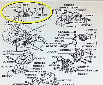 Amazon.com: Genuine Mitsubishi Transmission Mount MB581696 3000GT Stealth  DOHC NON - Turbo 1992 1993 1994 1995 1996 1997 1998 1999: AutomotiveAmazon.com