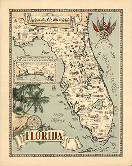 Map Western Florida.Amazon Com Historic Map Florida Inset Western Part Of Florida