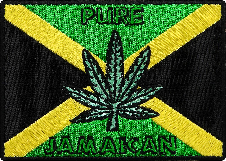 "3 1//2/"" x 2 1//4/"" Iron On Patch Flag of Jamaica JAMAICA FLAG"