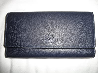 save off 1f489 c4ebc Amazon.com: Coach Pebbled Leather Trifold Wallet F53708 ...