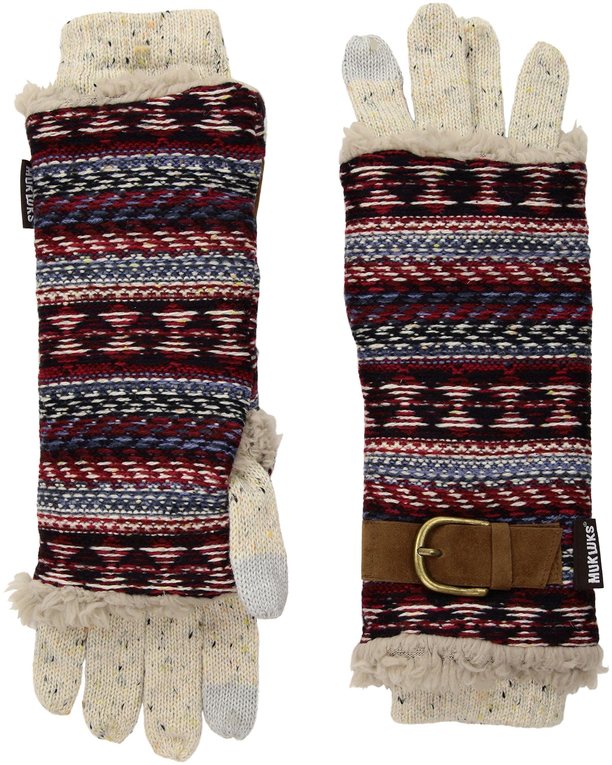 Muk Luks Women's 3-in-1 Gloves, Multi, One Size