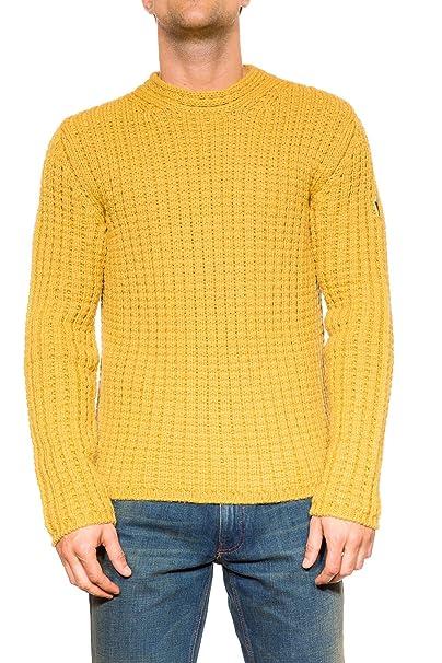 a3f6dee43a778a Moncler, Maglione Uomo, Senape, 46: Amazon.it: Abbigliamento