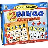 Addition and Subtraction Bingo Board Games Carson-Dellosa (140038) Ages 7 and Up