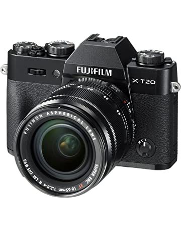 Fujifilm X-T20 Mirrorless Digital Camera, Black with Fujinon XF18-55mm F2.8-4 R LM Optical Image Stabiliser Lens Kit